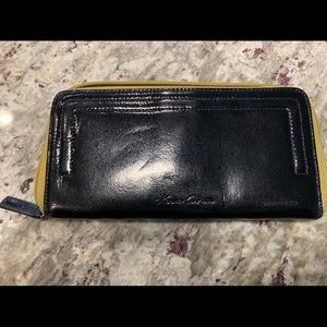 Kenneth Cole Black Patent Leather Wallet